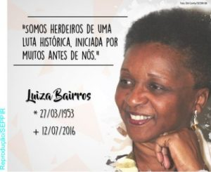 Luiza Bairros interna