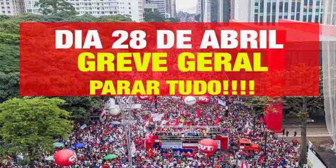 Resultado de imagem para Centrais preparam greve geral para o dia 28